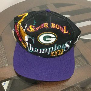Green Bay Packers Super Bowl XXXI Champ Hat Cap